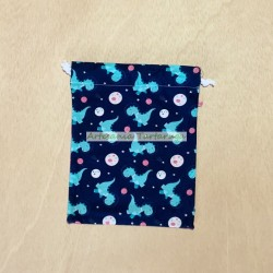 Snack bag with printed fabric